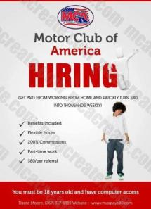 Make Money Today With Mca Motor Club Of America